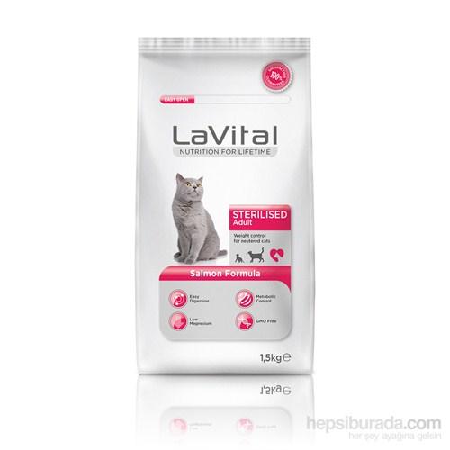 La Vital Cat Adult Sterilsed Salmon Kısırlaştırılmış Somonlu Yetişkin Kedi Maması 1,5 Kg