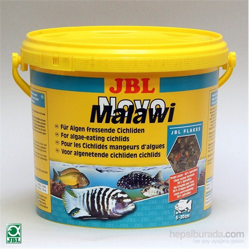Jbl Novo Malawi Flakes %38 Spirulina 5,5 Litre 860 Gram