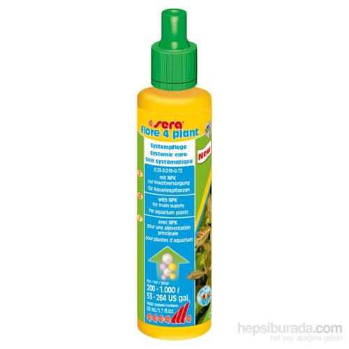 Sera Flore 4 Plant 50 Ml Sıvı Bitki Gübresi