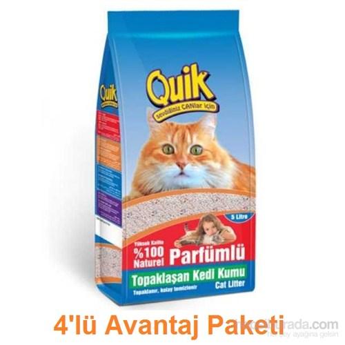 Bentonit Kalın Kedi Kumu 5 Lt 4Lü