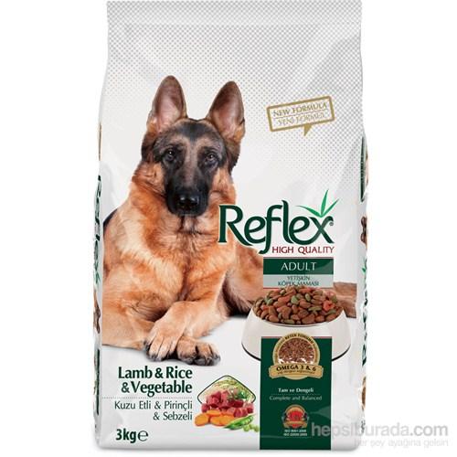 Reflex Adult Dog Kuzu Etli & Pirinçli & Sebzeli Yetişkin Köpek Maması 3 Kg