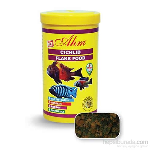 Ahm Marin Cichlid Flake Food 250 Ml.