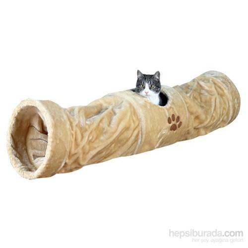 Trixie Kedi Peluş Tünel, 25×125cm, bej
