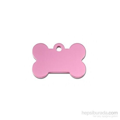 Quick Tag Köpek İsimlik, Kemik, Pastel Pembe, Küçük