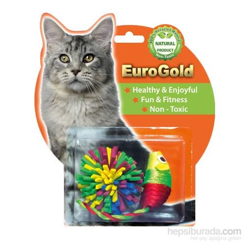Eurogold Parlak Fare & Lif Lif Top 2'Li Kedi Oyuncağı