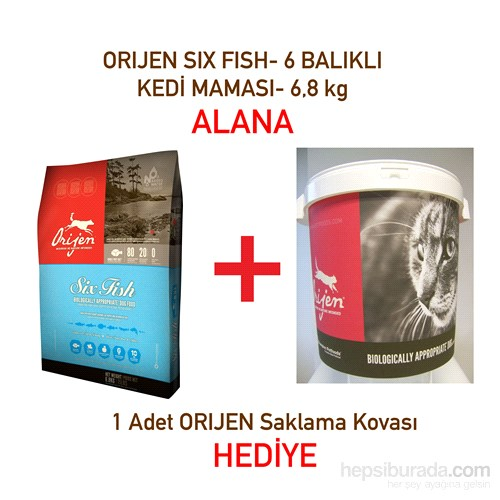 Orijen 6 fish 6 bal kl kedi mamas 6 8 kg saklama fiyat for Orijen six fish