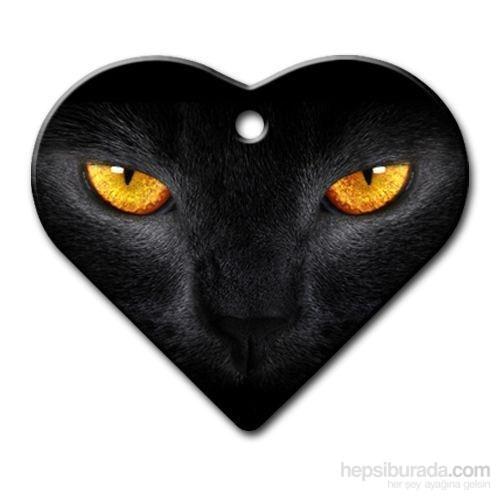 Dalis Pet Tag - Kedi Gözü Geniş Kalp Kedi Köpek Künyesi (İsimlik)