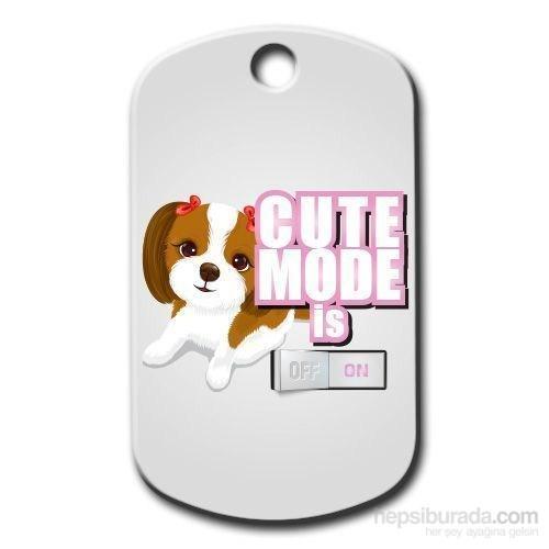 Dalis Pet Tag - Cute Mode Is On ( Pembe) Köpek Künyesi (İsimlik)