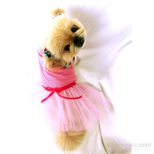 Mınnıe Mouse Tütülü Elbise - Pembe