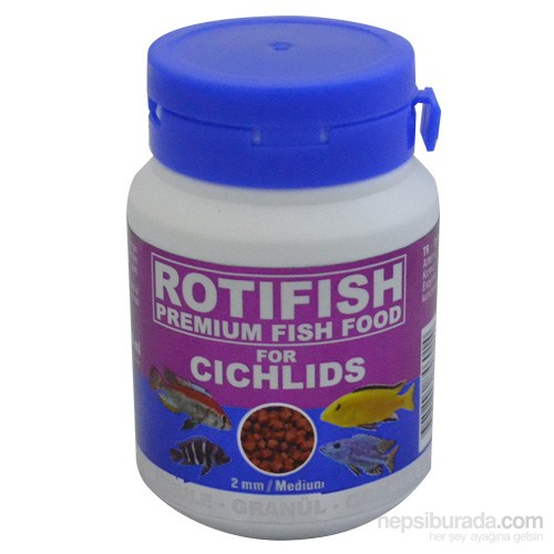 Rotifish Cichlid Red Medium (2 Mm) 100 Ml (40 Gr.) (Etçil Ciklit Balıklarınız İçin)