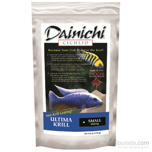Dainichi Ultima Krill Med. 2,5 Kg. 3 Mm. Çiklit Yemi