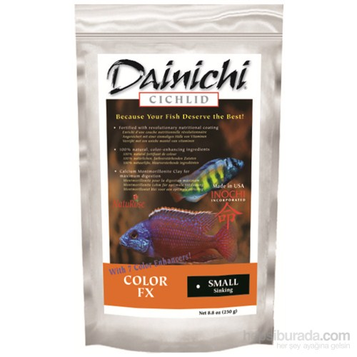Dainichi Color Fx Small 2,5 Kg. 2 Mm. Doğal Renlendirici Çiklit Yemi