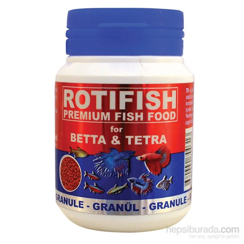 Rotifish Betta&Tetra Feed 100Ml. (45Gr.) (Beta Ve Tetra Balıkları Yemi)