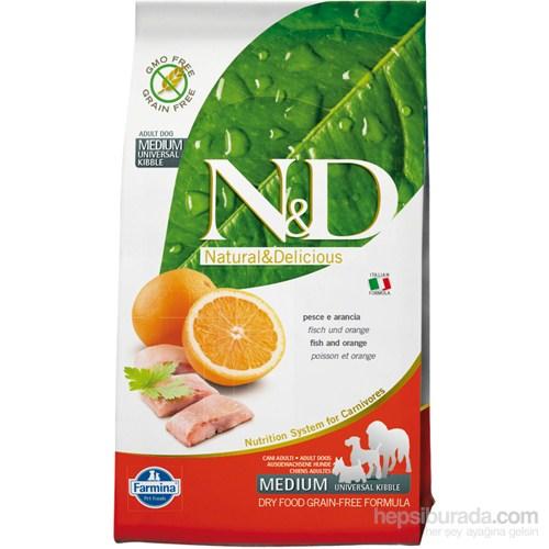 N&D Balık Portakal Tahılsız Yetişkin 2,5 Kg Köpek Maması
