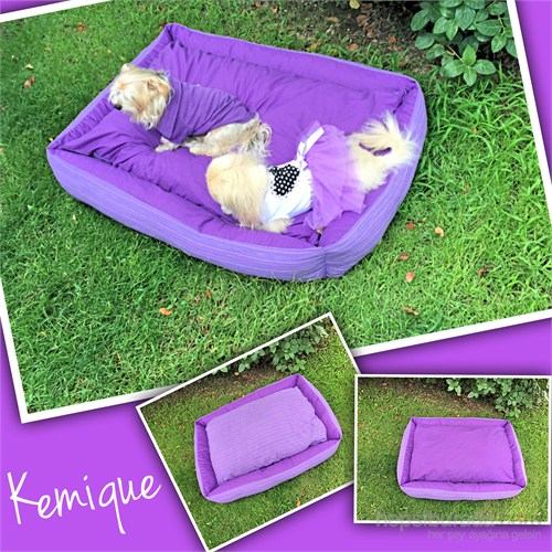 Mor Menekşe Köpek Yatağı 2X - Large
