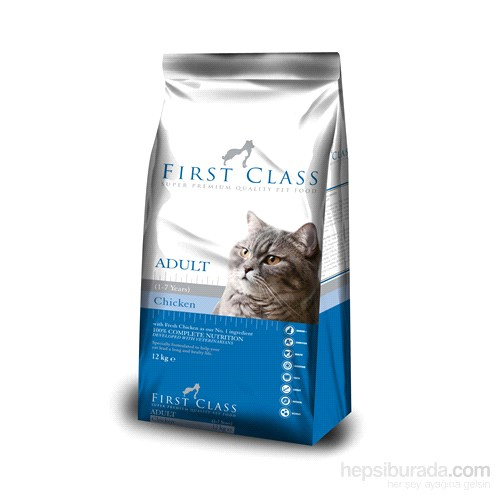 First Class Tavuk Etli Pirinçli Yetişkin Kedi Maması 12 Kg