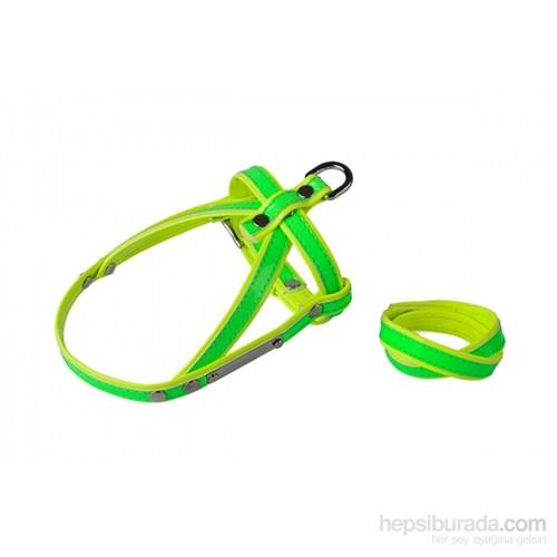 Neon Yeşil-Sarı M Göğüs Tasma/Bileklik