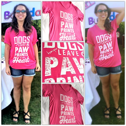 Kemique Dogs Leave Paw Prınts On Your Heart - Pembe
