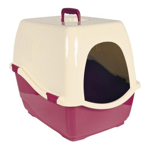 Kedi Tuvaleti 'Bill 1 S', Kapalı, Bordo/Krem