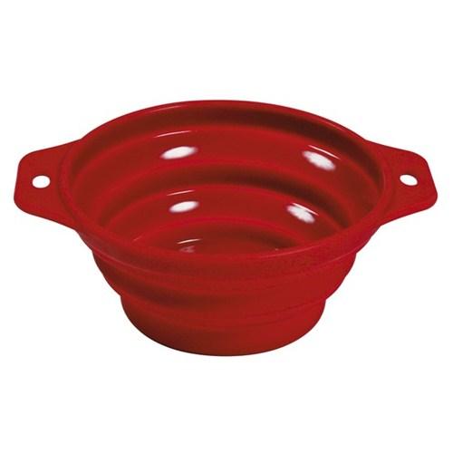 Trixie Köpek Mama Ve Su Kabı Silikon 1lt/ø 18 cm Kırmızı