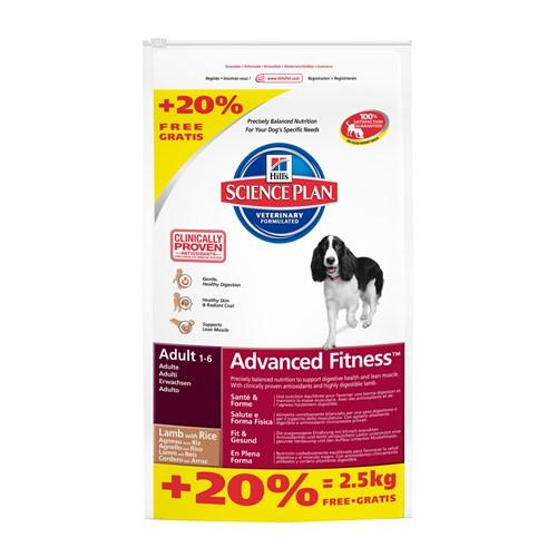 Hill's Science Plan Kuzu Etli Pirinçli Yetişkin Köpek Maması 14,5 Kg Bonus Bag (Adult Advanced Fitn gk