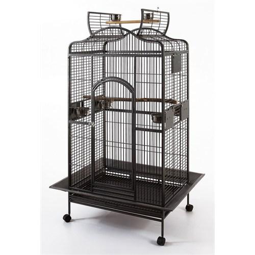 QH Pet Papağan Kafesi Büyük Dövme Siyah 81x59x156