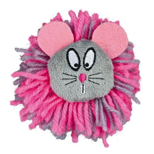 Trixie Kedi Sesli Yün Oyun Topu, 8Cm