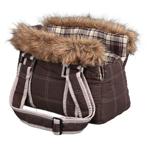 Trixie köpek&kedi taşıma çantası 22x26x40cm, kahve