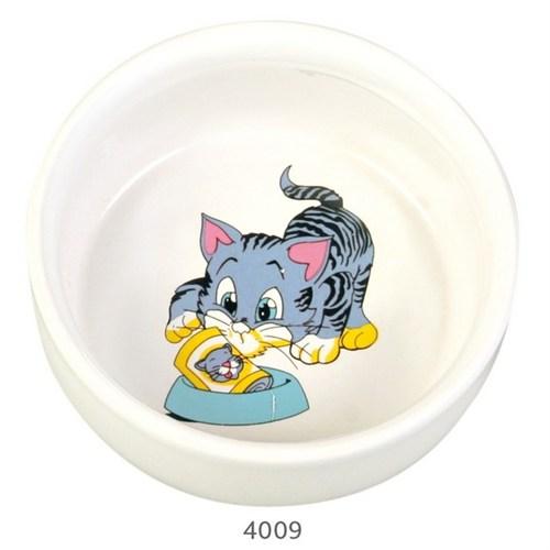 Trixie kedi seramik mama ve su kabı, 0,3lt/11cm