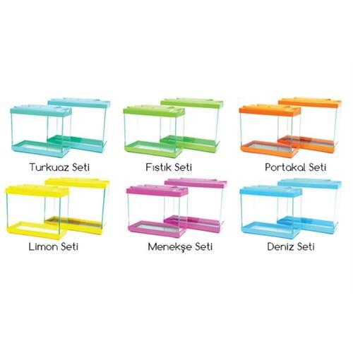 Plastik Akvaryum Set 30-35 Cm