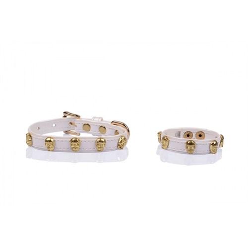 Luxury Gold Kuru Kafa Taşlı S Tasma/Bileklik