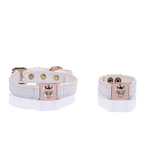 Luxury Gold Kuru Kafa Beyaz L Tasma/Bileklik