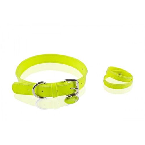 Neon Sarı Tasma/Bileklik L