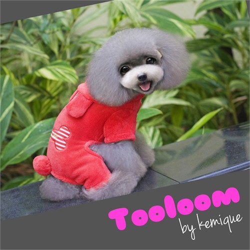 Kemique Bear Head Kırmızı Tulum - Tooloom By Kemique