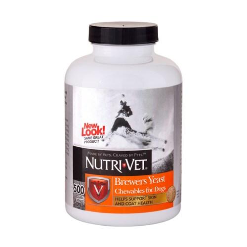 Nutrı-Vet Brewers Yeast With Garlic Chewables 500 Tab. Köpekler İçin Sarımsaklı Maya Tabletleri