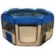 Senful Sdt-3025 - 1 Katlanabilir Yavru Köpek Oyun Alanı 92X92X43 Cm Mavi-Gri