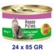 Happy Paws Duck And Turkey İn Gravy Ördek Etli Ve Hindi Soslu Yetişkin Kedi Konservesi 80 Gr (24 Adet)