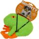 Mighty Jr. Micro Fiber Kurbağa Şeklinde Köpek Oyuncağı