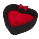 Bronza Heart Kedi ve Köpek Yatağı Siyah