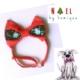 Kırmızı Kartaneli Köpek Papyonu - Noel By Kemique