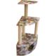 Lepus Yuvalı Üç Katlı Köşe Kedi Tırmalama 40*60*115 cm