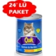 Quik Somon Ve Karidesli Konserve Kedi Mamasi 415 Gr(24 Adet)