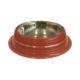 Gardenmix Desenli Kırmızı Çelik Köpek Mama Su Kavı 1,9 lt