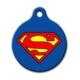 Dalis Pet Tag - Superman Logo Desenli Yuvarlak Kedi Köpek Künyesi