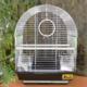 Qhpet Oval Çatılı Krom Telli Kuş Kafesi 34,5x28x45,5 cm