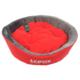 Lepus Lüx Peluş Kedi Köpek Yatağı Gri Kırmızı 18*52 Cm