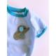 Mavi Cute Elephant- Oval Yaka Tişört - Summer T By Kemique - Köpek Kıyafeti - Köpek Elbisesi