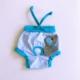 Mavi Cute Elephant - Kemique'S Secret - Köpek İç Çamaşırı - Regl Külot - Don