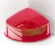 Georplast Lux Corner Small Kedi Ve Köpek Plastik Köşe Mama Ve Su Kabı Kırmızı 20 X 15 X 8(H) Cm