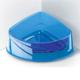 Georplast Lux Corner Big Kedi Ve Köpek Plastik Köşe Mama Ve Su Kabı Büyük - Mavi 24,5 X 19 X 9,5(H) Cm